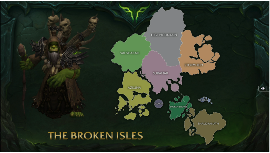 WoW Legion Broken Isles