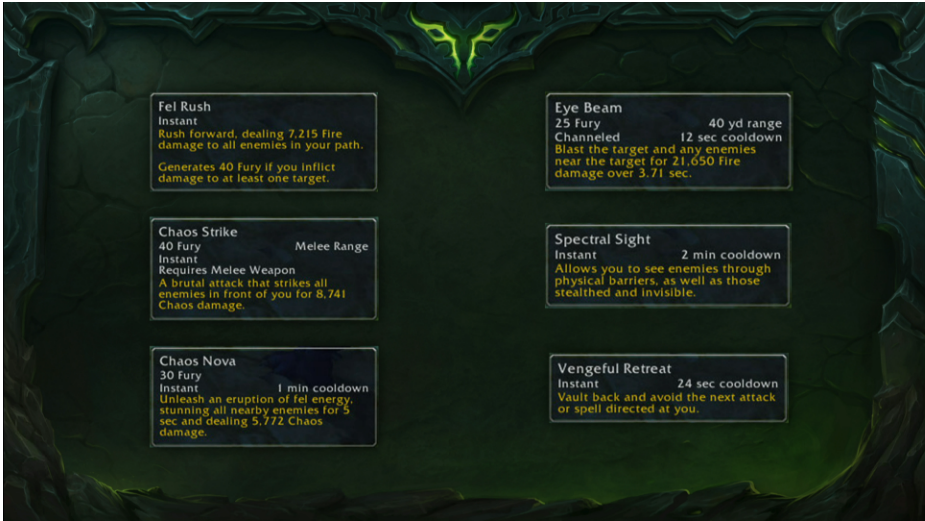 WoW Legion Demon Hunter Abilities