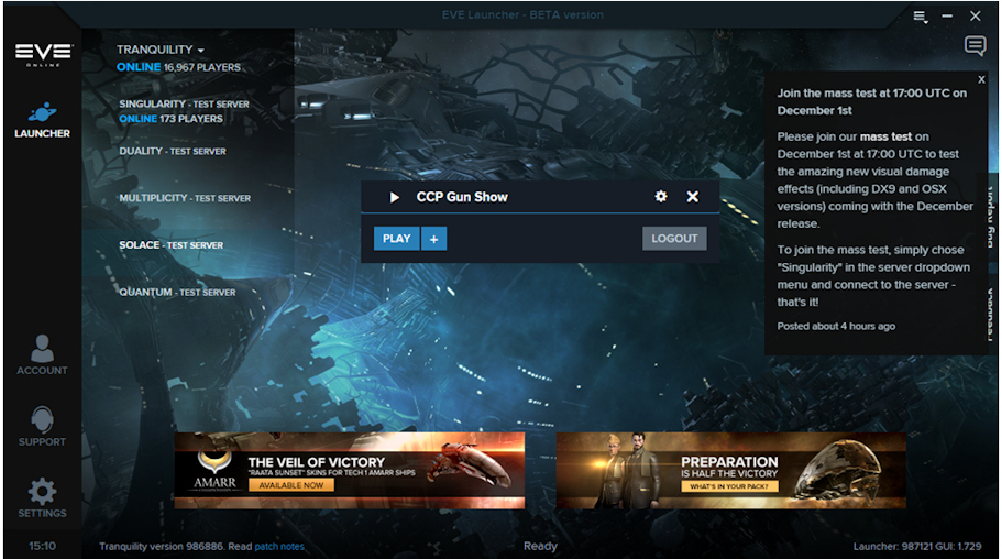 EVE Online Deploying New Server Hardware - MMO Central