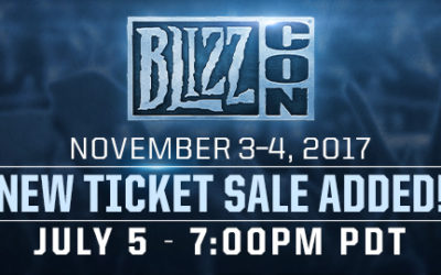 BlizzCon Tickets Added, Available July 5th
