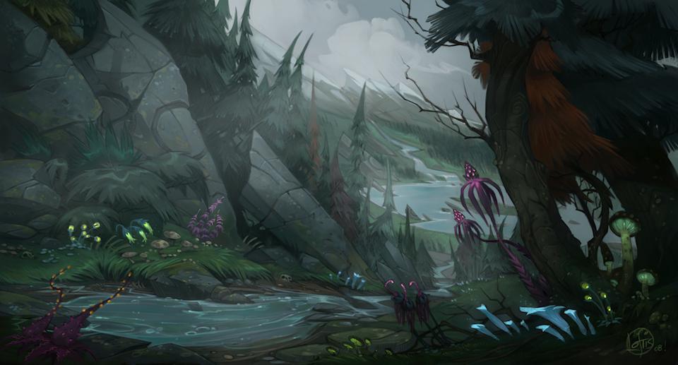 WildStar Shares Lore on Aurin Homeworld Arboria