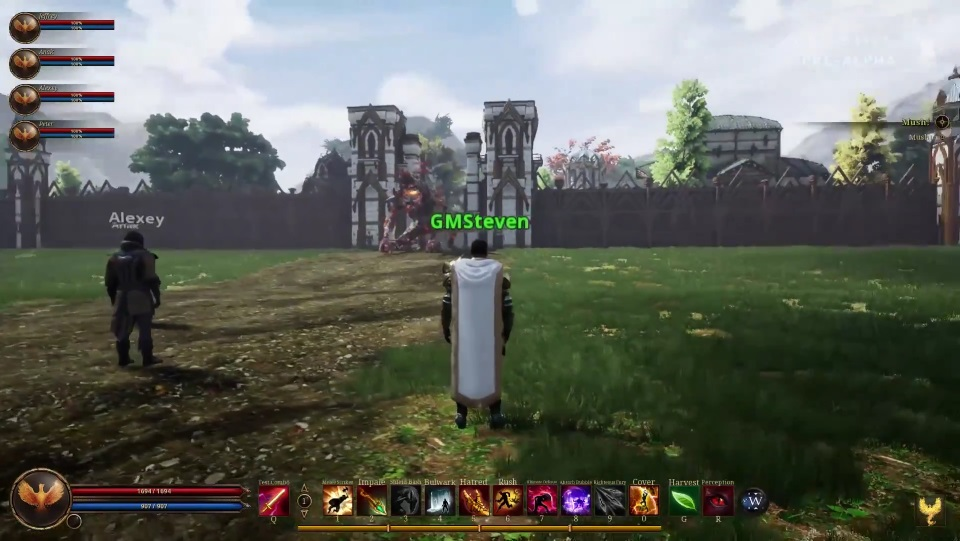 Ashes of Creation Streams Pre-Alpha Gameplay