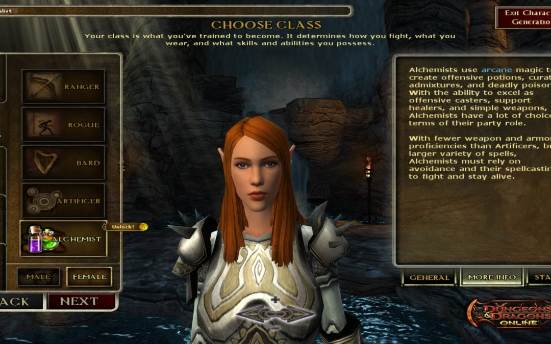 DDO Previews Alchemist Class, Balance Changes
